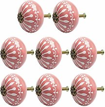 DyniLao 8Pcs Vintage Ceramic Knobs Knob Drawer