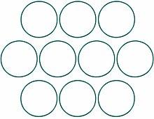DyniLao Fluoride Rubber O-Rings, 67mm OD 63.2mm ID