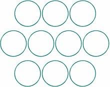 DyniLao Fluoride Rubber O-Rings, 71mm OD 67.2mm ID