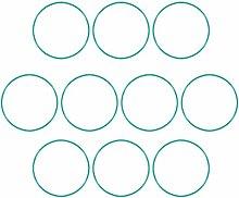 DyniLao Fluoride Rubber O-Rings, 74mm OD 70.2mm ID