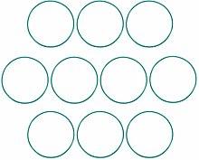 DyniLao Fluoride Rubber O-Rings, 80mm OD 76.2mm ID