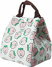 DyniLao Lunch Bag Box Cotton Linen Rectangle Lunch