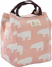 DyniLao Lunch Bag Box Travel Cotton Linen
