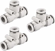 DyniLao Plastic Push Tee to Connect Tube Fittings