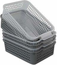 Dynko 6 Pack Plastic Storage Baskets Kitchen