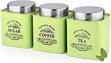 Dynore Green Square Half Deck Tea, Coffee & Sugar