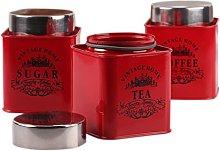 Dynore Red Square Half Deck Tea, Coffee & Sugar