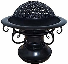 DYR Outdoor Wrought Iron Brazier Charcoal Barbecue
