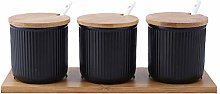 Dytiying Set of 3 Ceramic Kitchen Spice Containers