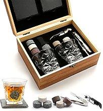 DYXYH Gift Set Whiskey Glass Set of 2 Whiskey
