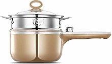 DYXYH Saucepan Stainless Steel Sauce Pot Pan with
