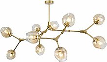 DZHT Modern Glass Chandelier Lighting For Pubilc