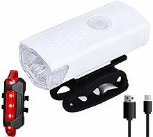 DZHTSWD USB Rechargeable Bike Light Set, Portable
