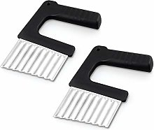 Dzmuero Crinkle Cutting Tool,2 PCS Potato Cutter