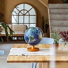 DZX Illuminated World Globe Lamp-2-In-1 Geographic