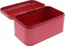 DZX Metal Kitchen Bread Bin with Hinged Lid for