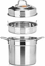 DZX Steamer - XL Stainless Steel 3-Tier/Layer