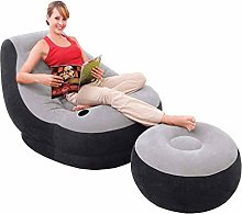 DZXYQ Household Inflatable Lazy Flocking Sofa Bed