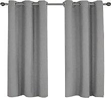 DZYP Blackout Curtain 2 Panels Soft Darkening