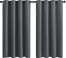 DZYP Blackout Curtain 2 Panels Soft Solid