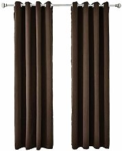 DZYP Blackout Curtain 2 Panels Soft Thermal
