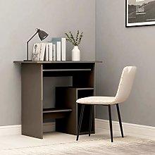 E-Greetshopping Desk Grey 80x45x74 cm Chipboard