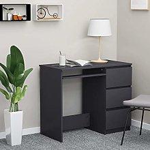 E-Greetshopping Desk Grey 90x45x76 cm Chipboard