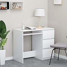 E-Greetshopping Desk White 90x45x76 cm Chipboard