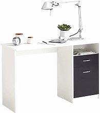 E-Greetshopping Desk with 1 Drawer 123x50x76.5 cm