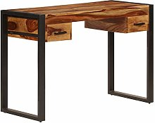E-Greetshopping Desk with 2 Drawers 110x50x77 cm