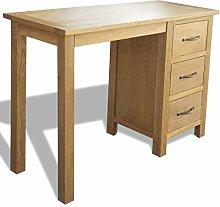 E-Greetshopping Desk with 3 Drawers 106x40x75 cm