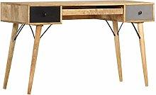 E-Greetshopping Desk with Drawers 130x50x80 cm