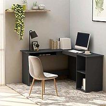 E-Greetshopping L-Shaped Corner Desk Grey
