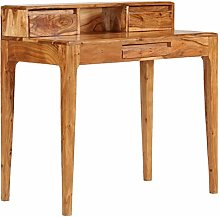 E-Greetshopping Writing Desk with Drawers Solid