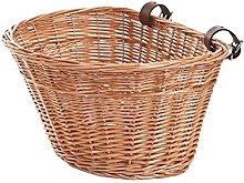 e-wicker24 Wicker Bicycle Basket, Honey Yellow, 43
