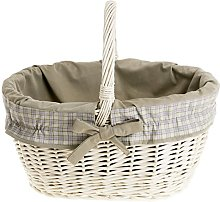 e-wicker24 Wicker Shopping Basket, Basket, Beige,
