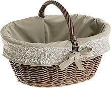 e-wicker24 Wicker Shopping Basket, basket, dark