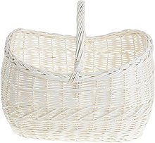 e-wicker24 Wicker Shopping Basket, Beige, 44 x 32
