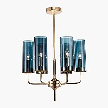 E12 Candle Holder Chandelier Fixture, LED Blue