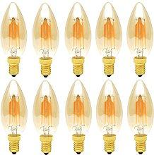 E14 LED Dimmable Filament Vintage Light Bulb,