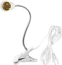 E26/E27 Clip Desk Lamp Holder Neck Light Bulb