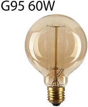 E27 G95 60W Dimmable Antique Globe Industrial