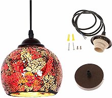 E27 Lamp Holder Vintage Hanging Light Mosaic