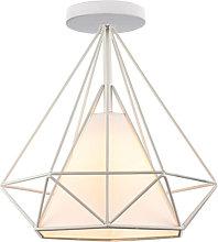 E27 Modern creative iron cage diamond ceiling