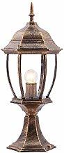 E27 Traditionally Retro Bronze Column Lights Oval