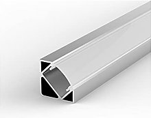 E3 Silver Anodized 1m Corner LED Aluminium