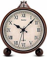 Eachui Retro Desk Shelf Clock, Antique Table Clock