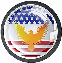 Eagle America 4 Pieces Crystal Glass Wardrobe