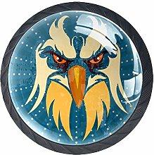 Eagle Head Crystal Drawer Handles Furniture Glass