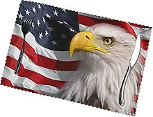 Eagle Placemats Table Mats Non-Slip Washable Stain